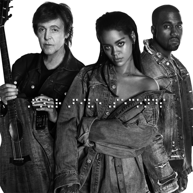 Rihanna, Paul McCartney, Канье Уэст